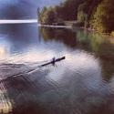 Rower in Bohinj Lake
