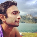 Vikram after swimming in Bled Lake