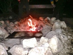 Fire in the camping